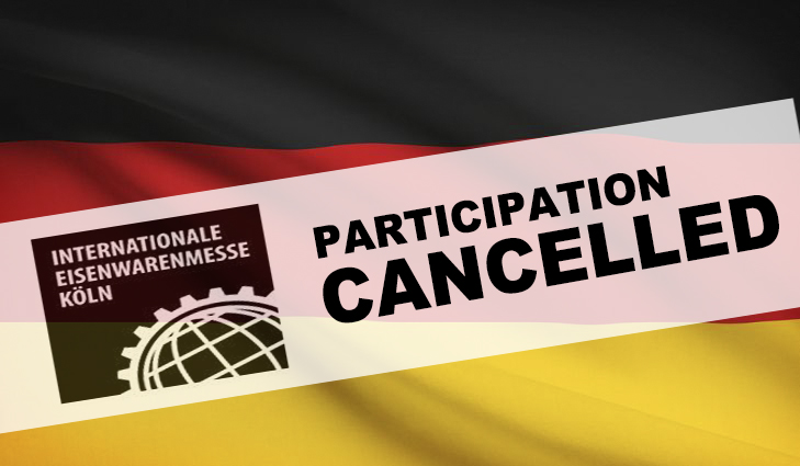 EISENWARENMESSE 2020 Participation Cancelled